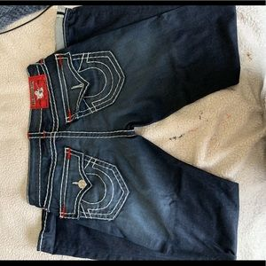 True Religion Size 32 Straight Red Stitch